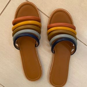 Madewell Addie Slide Rainbow Sandal